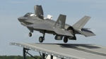 F35B Lightning II takes off from a ski jump during testing